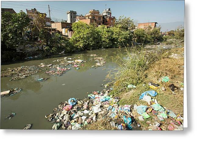 Bishnumati River Greeting Card by Ashley Cooper