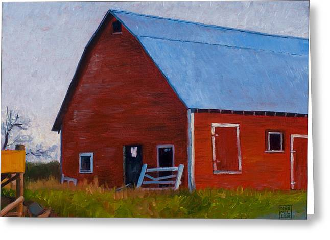 Bishop Barn Greeting Card by Stacey Neumiller