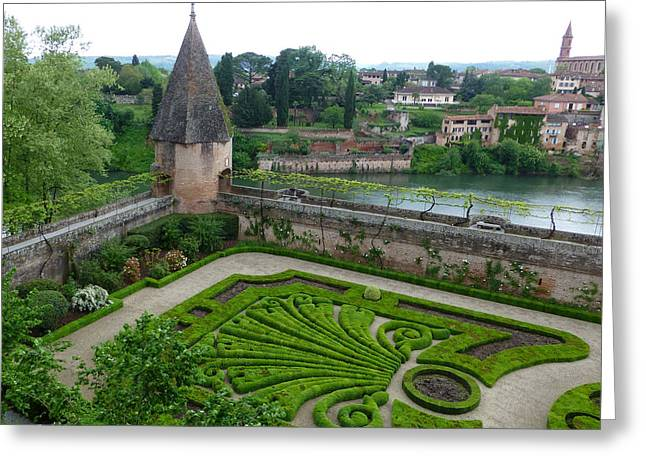 Bishop Garden In Albi France Greeting Card