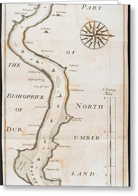 Bishoprics Of Durham And Northumberland Greeting Card
