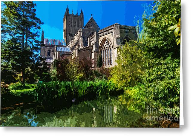Bishops Garden Behind Cathedral Greeting Card