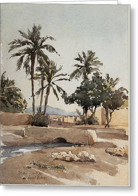 Biskra, 17th April 1889  Greeting Card by Henri Duhem