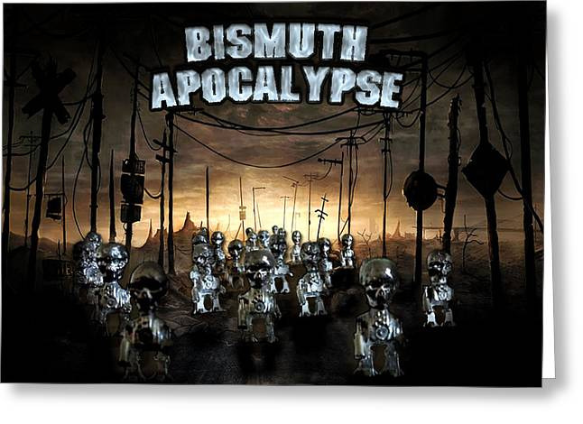 Greeting Card featuring the photograph Bismuth Apocalypse by Tarey Potter