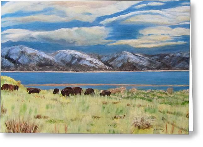 Bison On Antelope Island Greeting Card