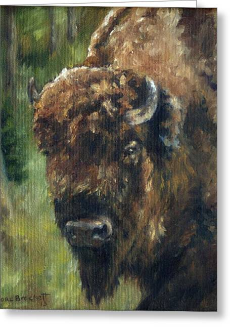 Bison Study - Zero Three Greeting Card