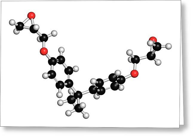 Bisphenol A Diglycidyl Ether Molecule Greeting Card