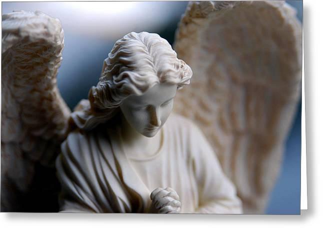 Bisque Angel Greeting Card by Glenn McGloughlin