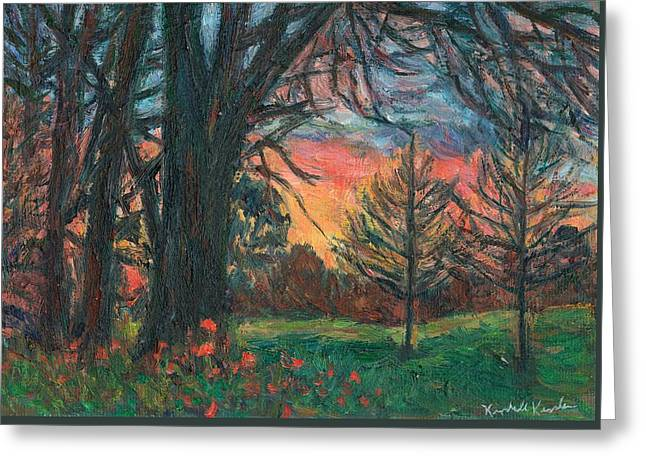Bisset Park Sunrise Greeting Card by Kendall Kessler