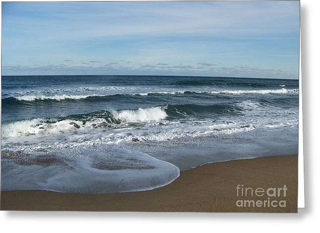 Greeting Card featuring the photograph Winter Beach  by Eunice Miller