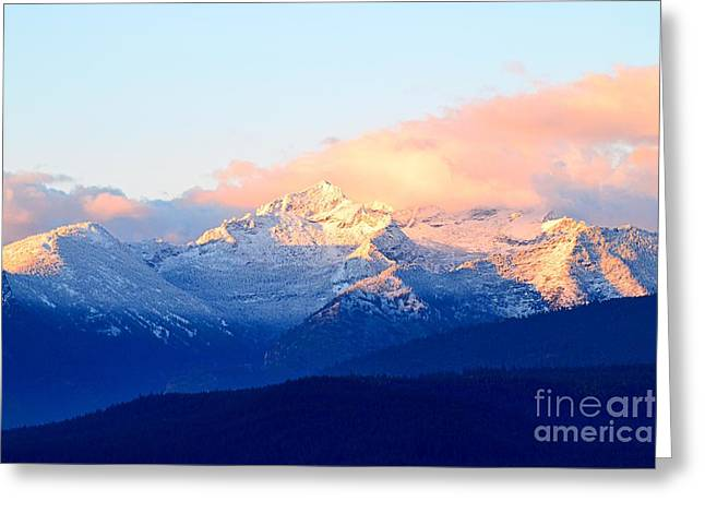 Bitterroot Mountains Montana Greeting Card