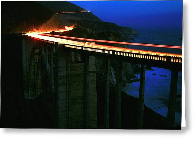 Bixby Bridge At Big Sur Greeting Card by Jetson Nguyen