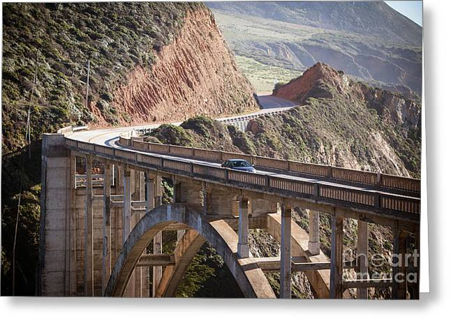 Bixby Bridge Greeting Card by Chris Putnam