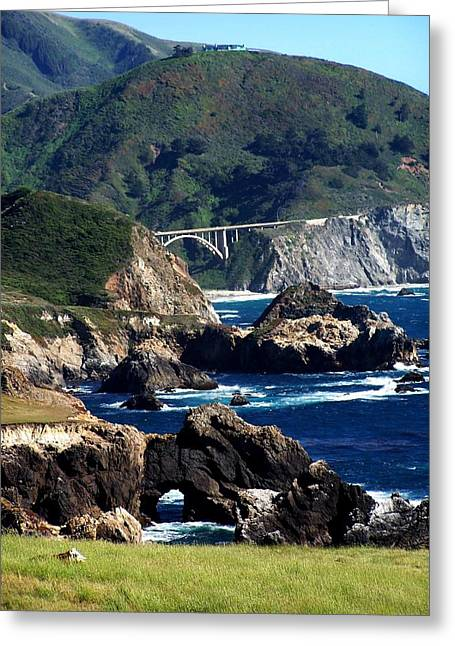Bixby Bridge Greeting Card by Christine Drake