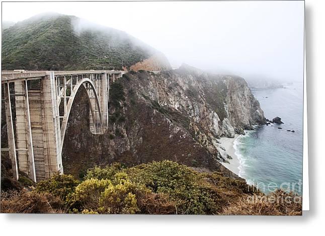 Bixby Bridge II Greeting Card by Jenna Szerlag