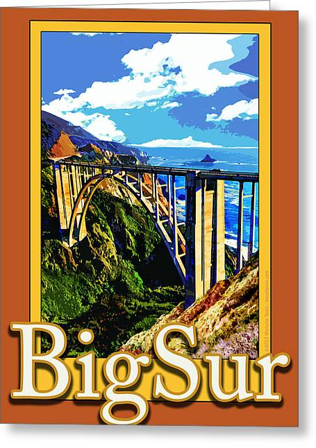 Bixby Bridge In Big Sur California Greeting Card by Michelle Scott