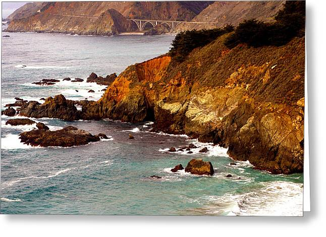 Bixby Bridge Of Big Sur California Greeting Card by Barbara Snyder
