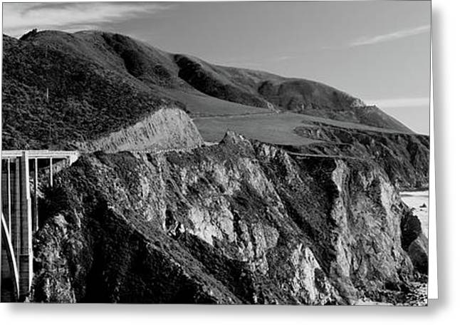 Bixby Creek Bridge, Big Sur Greeting Card by Panoramic Images