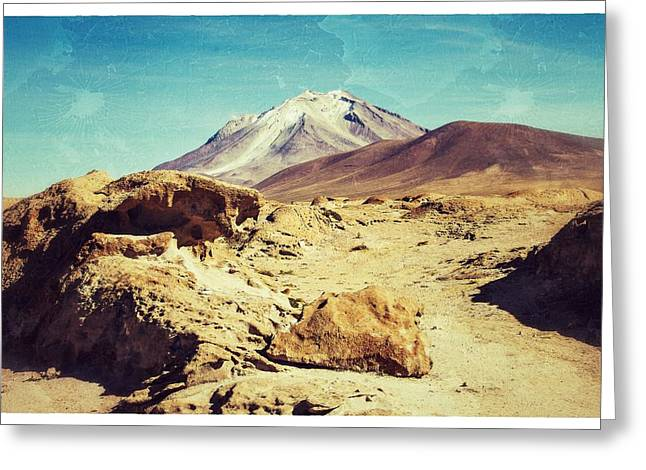 Bizarre Landscape Bolivia Old Postcard Greeting Card by For Ninety One Days