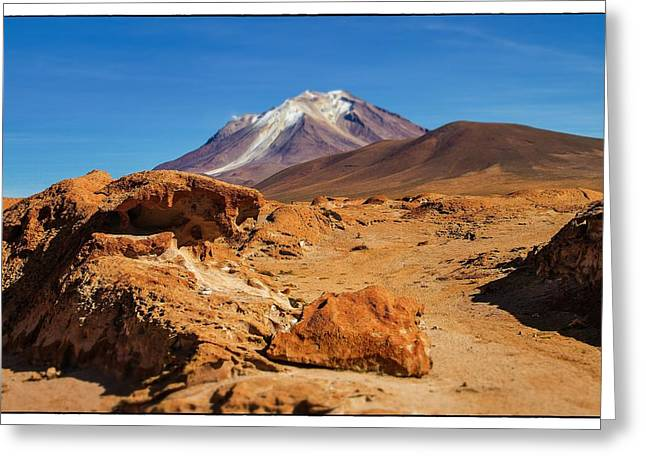 Bizarre Landscape Bolivia Select Focus Greeting Card by For Ninety One Days