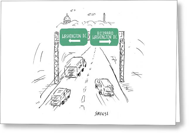 Bizarro Washington Dc Greeting Card