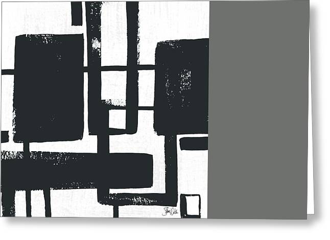 Black And White Abstract I Greeting Card by Shanni Welsh