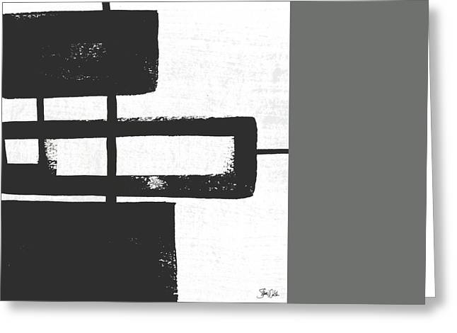Black And White Abstract IIi Greeting Card by Shanni Welsh