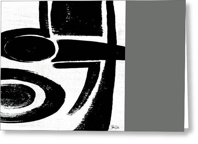 Black And White Abstract Iv Greeting Card by Shanni Welsh