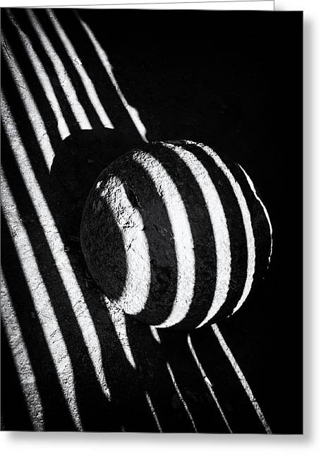 Black And White Abstract Lines And Shapes Stark Contrast Greeting Card by Matthias Hauser
