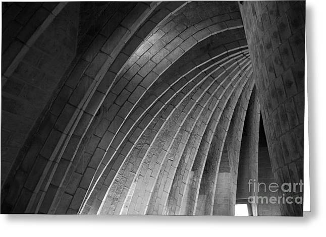 Black And White Arches Greeting Card