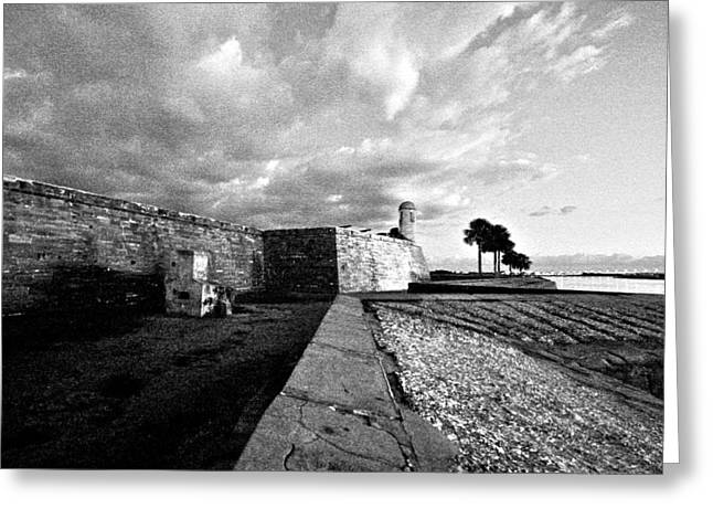 Black And White Castillo De San Marcos View 4 Greeting Card