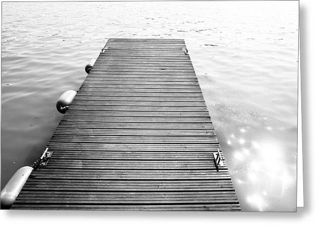 Black And White Dock Greeting Card by Pati Photography