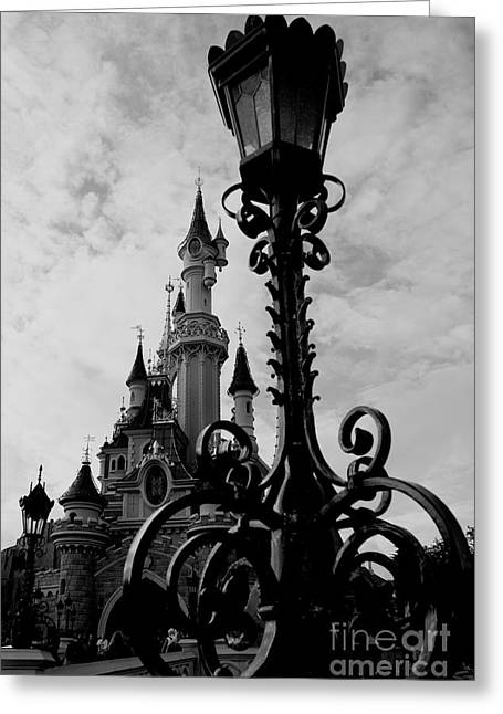 Black And White Fairy Tale Greeting Card by Donato Iannuzzi