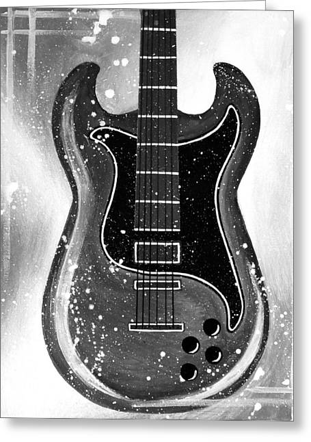Black And White Jazz Greeting Card by Allison Liffman