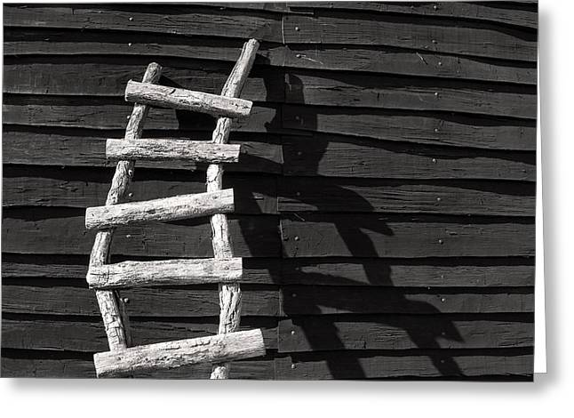 Black And White Ladder Greeting Card