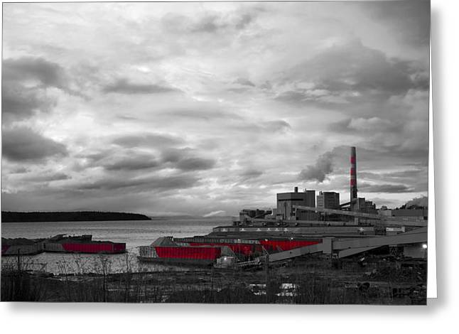 Black And White Mill Greeting Card