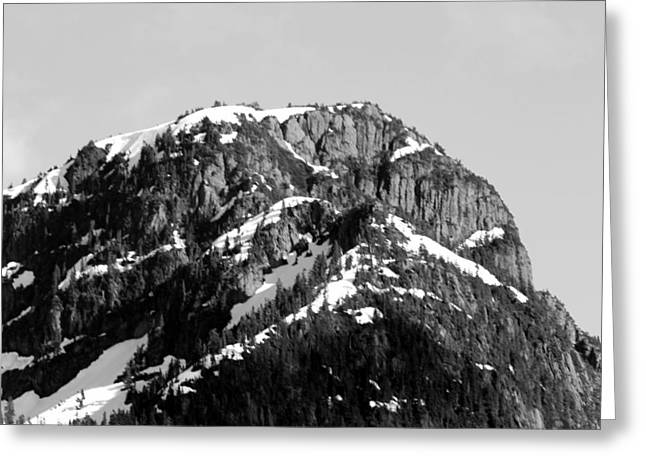 Black And White Mountain Range 1 Greeting Card by Diane Rada