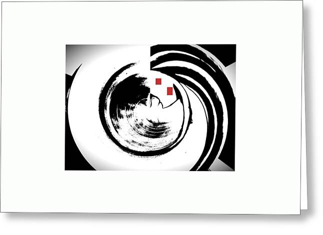 Black And White Movement Greeting Card