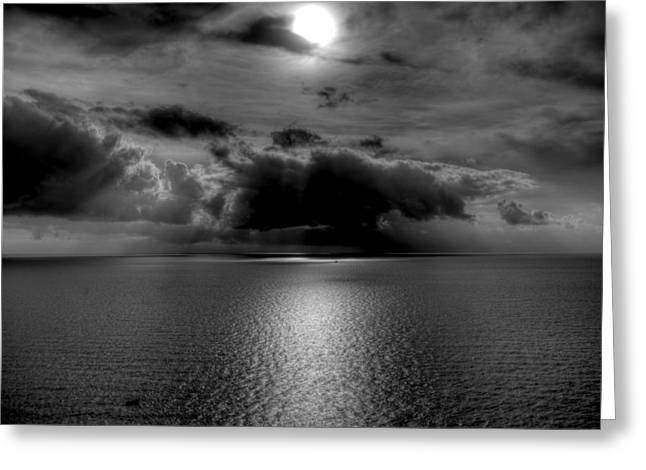 Black And White Of The Med Greeting Card