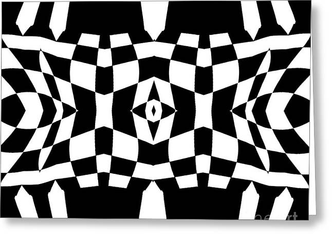 Black And White Op Art Pattern No.213 Greeting Card