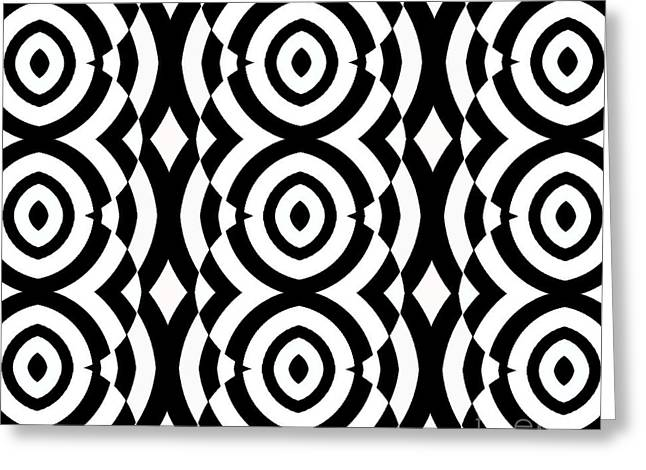 Black And White Op Art Pattern No.249. Greeting Card by Drinka Mercep