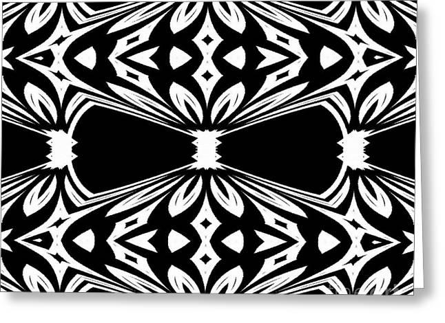 Black And White Pattern No.265 Greeting Card by Drinka Mercep