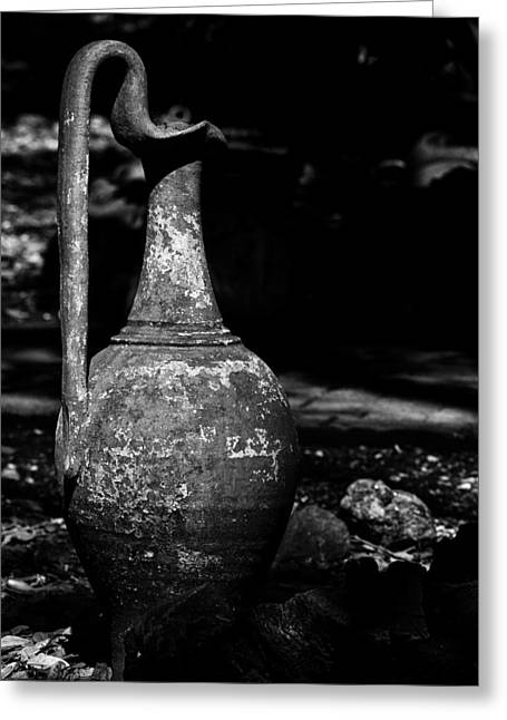Black And White Pitcher Greeting Card by Jay Droggitis