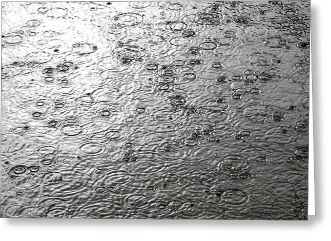 Black And White Rain Greeting Card
