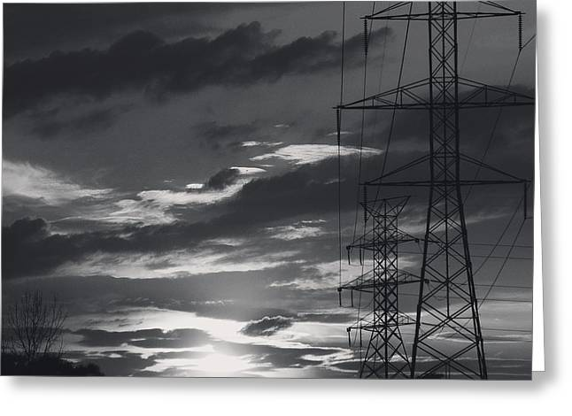 Black And White Skies Greeting Card