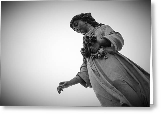 Black And White Statue Greeting Card