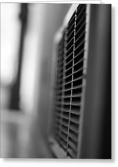 Black And White Vent Greeting Card by Dan Sproul