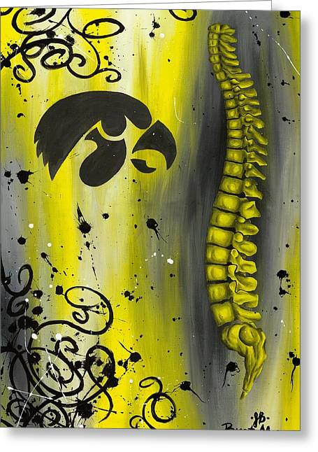 Black And Yellow Greeting Card by Brent Buss