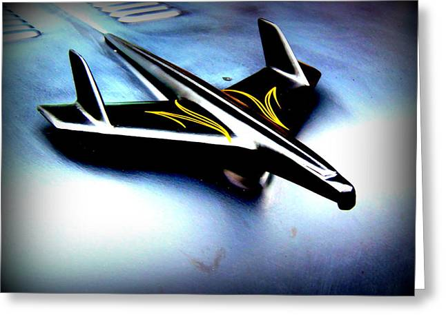 Black And Yellow Hood Ornament  Greeting Card by Willy  Nelson