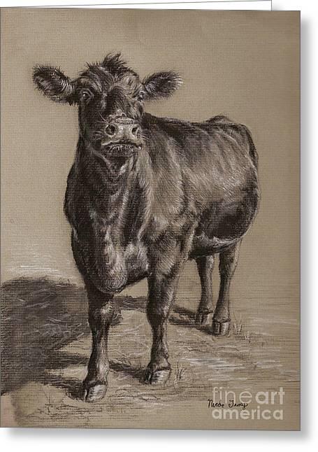 Black Angus Cow 1 Greeting Card