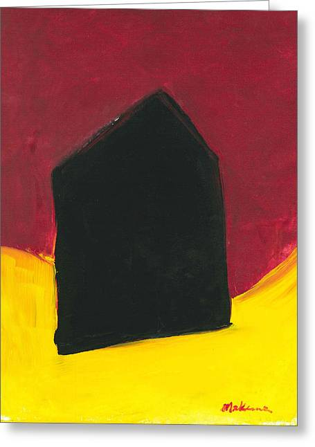 Black Arthouse Greeting Card